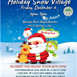 Holiday Snow Village 2019 flyer