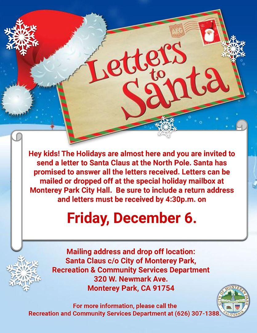 Letters to Santa 2019 flyer