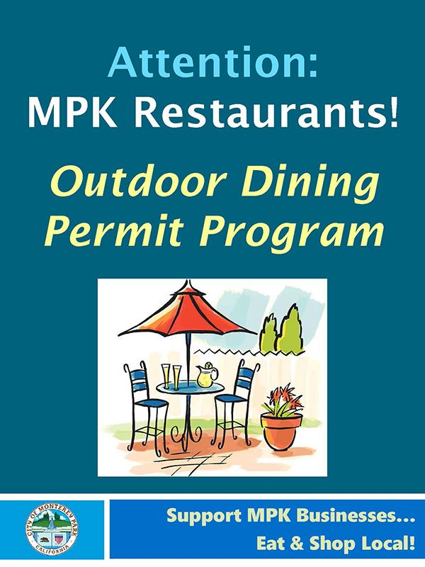 Temp Outdoor Dining Permit Program 2020 graphic
