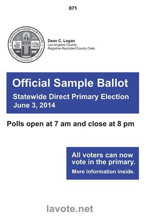June 3, 2014 Sample Ballot Booklet