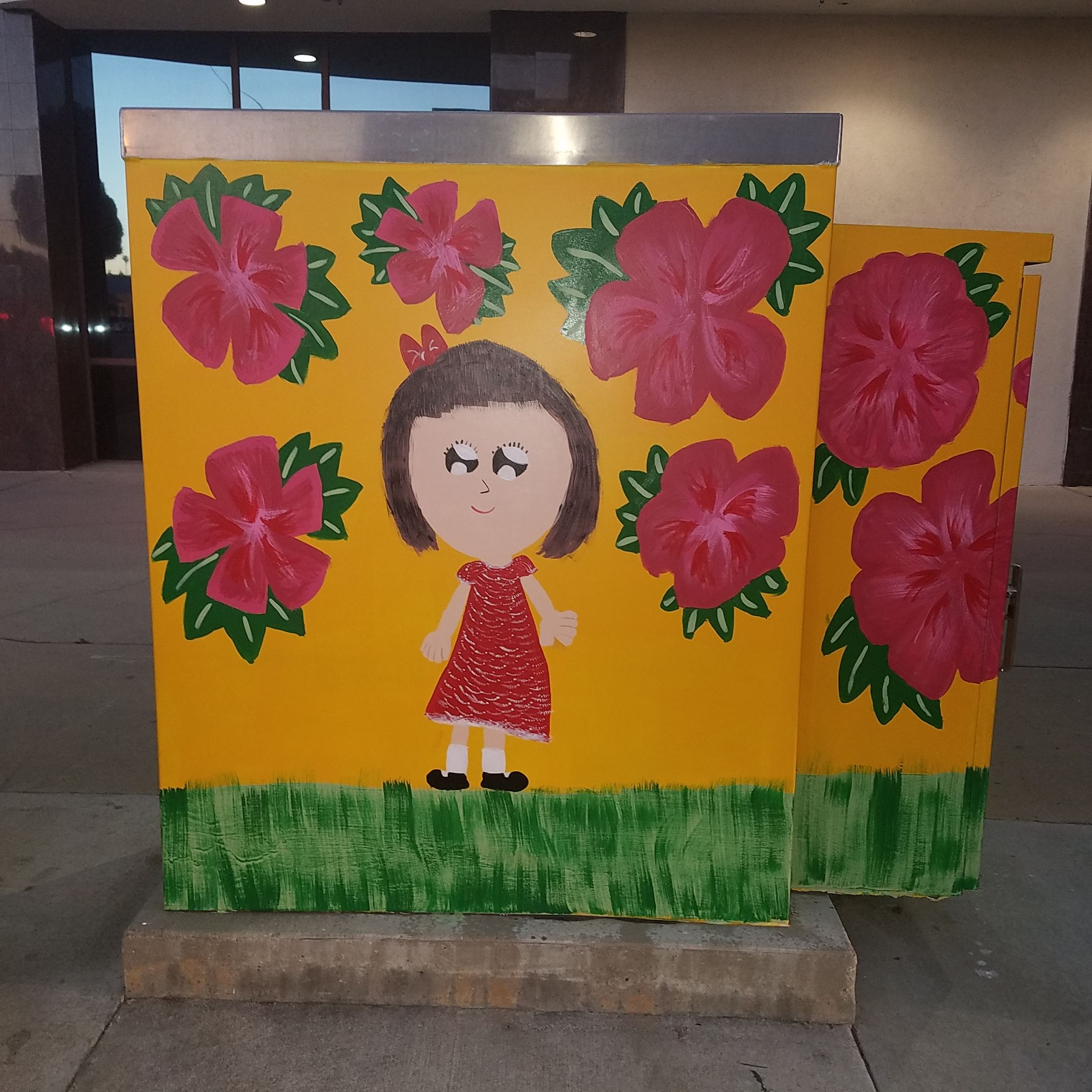 Electrical box Beautification project by St Stephen Martyr students at Ramona and Garvey May 2017