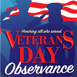 Veterans Day and resource fair poster 2017