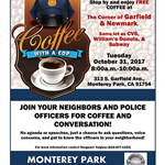 Coffee with a Cop flyer 10-31-17