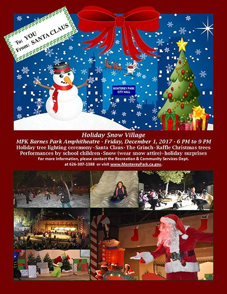 Holiday Snow Village 2017 flyer