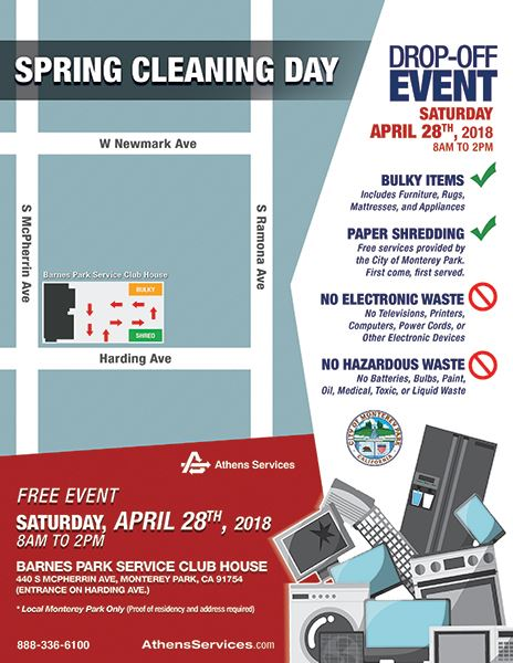 Spring Cleaning Day flyer 4-28-18