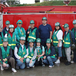 CERT class in front of fire truck