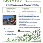 Earth Day Fest Bike Ride 2018 flyer