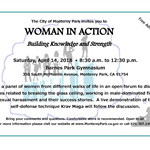 Women in Action Forum April 14, 2018 flyer