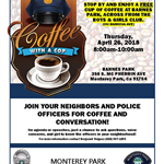 Coffee with a Cop, April 26, 2018, Barnes Park