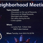 Fire Dept 4th of July Neighborhood Meeting