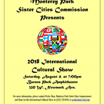 Sister Cities Commission International Cultural Show, August 4, 2018