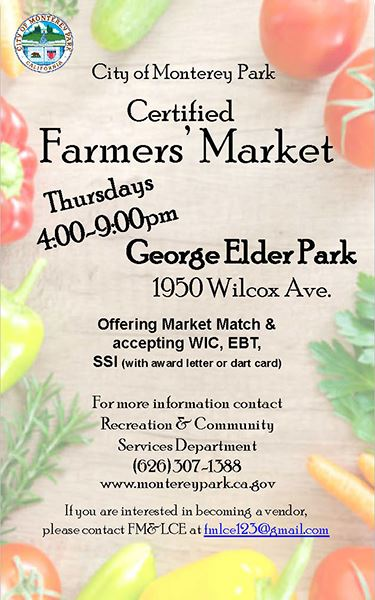 MPK Farmers Market, Thursday nights 4-9 p.m. at Elder Park