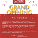 Guitar Center grand opening 10-18-18 flyer