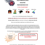 Fire and Rec Disaster Preparedness Class Flyer Oct 2018