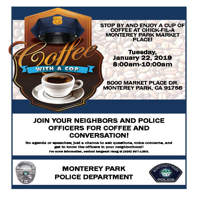 Coffee with Cop 01-22-19 Chick fil A