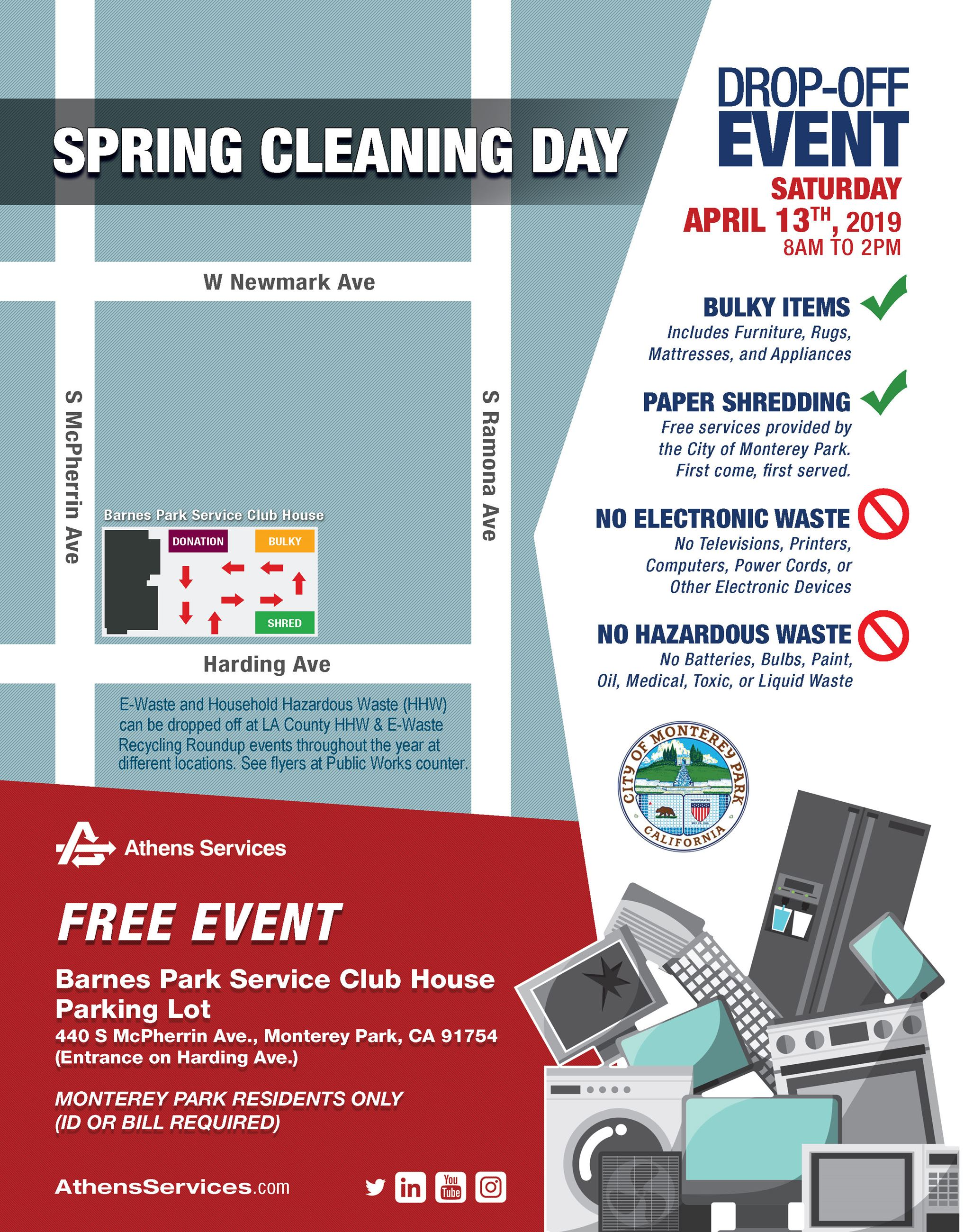 Spring Cleaning Day by Athens Services 4-13-19 flyer
