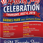 4th of July 2019 poster