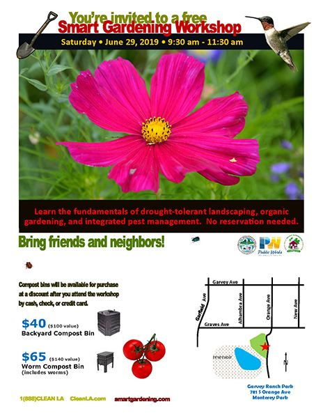 Smart Gardening Workshop by LA County flyer 6-29-19