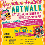 Geranium Festival and Artwalk 2019 flyer