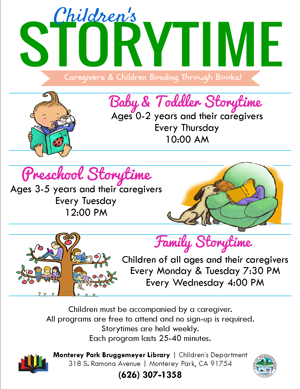 2019 storytime schedule
