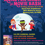 Monster Mash and Movie Bash 2019 flyer