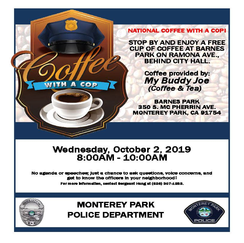 Coffee with a Cop 2019 flyer