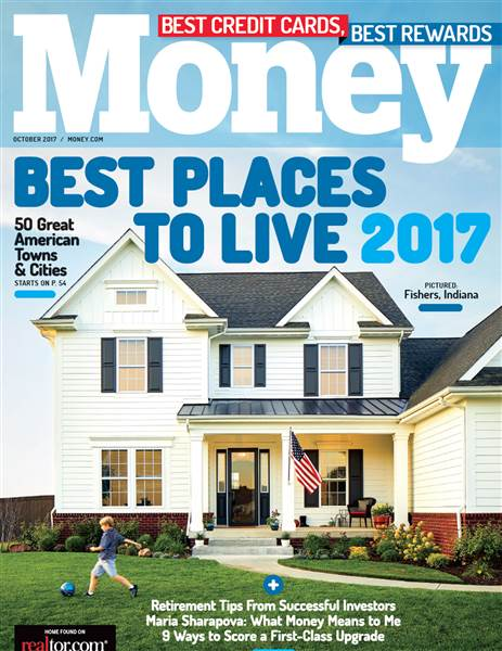 Money Best Places to Live 2017 magazine cover