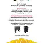 Smart Gardening Workshop by LA County Feb 29 2020 flyer