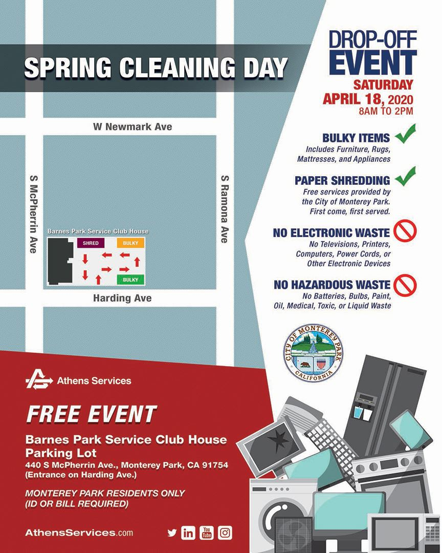 Spring Cleaning Day by Athens Services 4-18-20 flyer