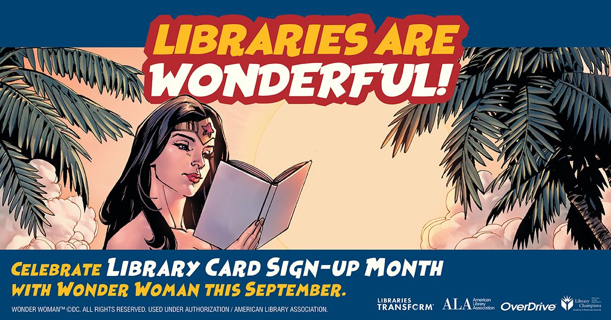 Libraries Are Wonderful Wonder Woman graphic