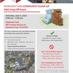 MPK and Athens Community Clean-up Highlands Park 6-5-51 flyer