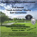 21st Annual Youth Activities Charity Golf Tournament
