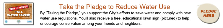 Take the Pledge water conservation banner ad