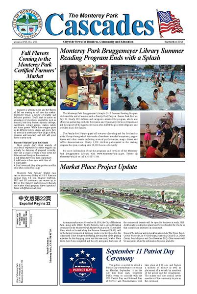 Cascades Newspaper Sept 2017 front page