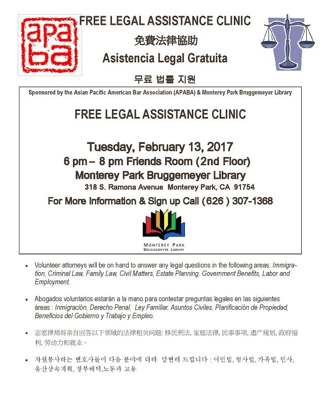 Free Legal Clinic February 2018-page-001