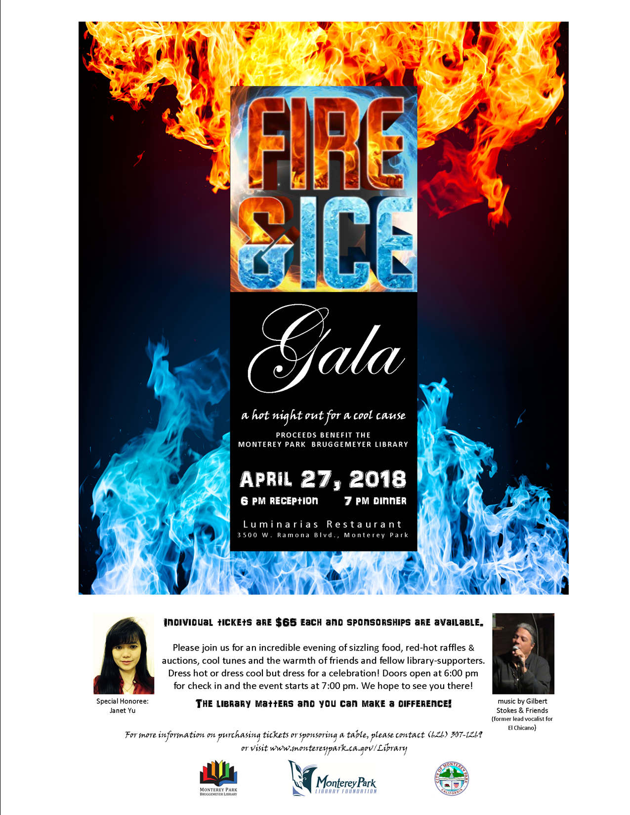 2018 Gala ad flyer with sponsorship