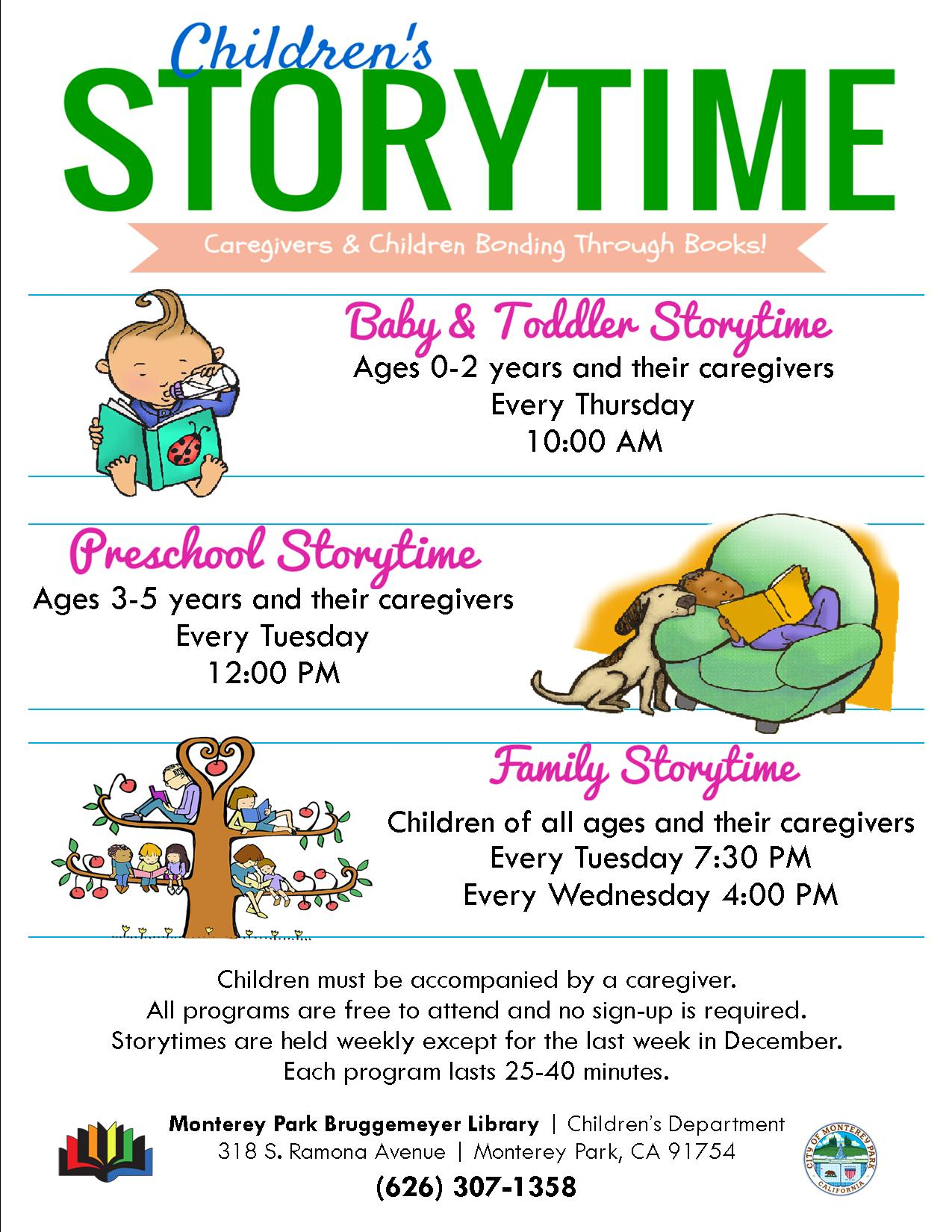 2018 childrens storytime
