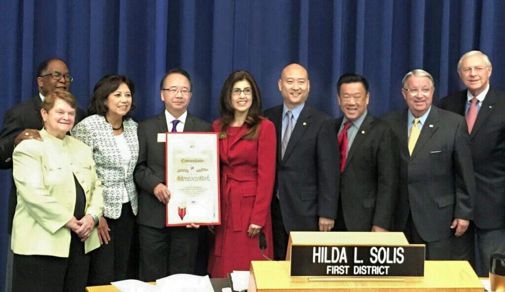 City Council with LA County Supervisors