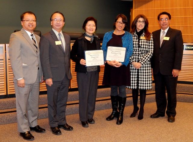 11172015 - Mayors Award - Kathleen Yep and Diana L